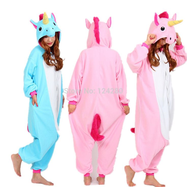 Nico the Unicorn Adult Pink Blue Unicorn onesie costume Women Men animal pajamas pyjama Jumpsuit party halloween cosplay costume