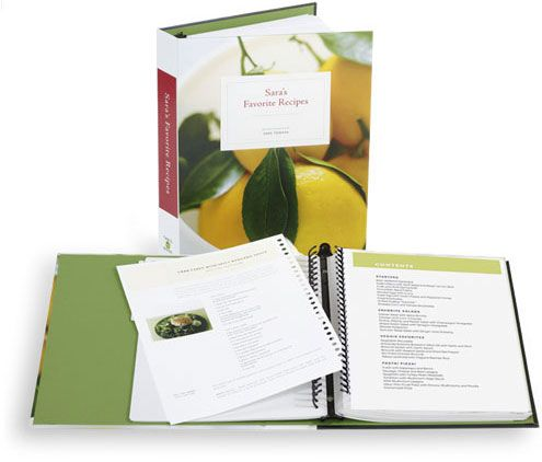 Make your own family cookbook!  This is  fantastic.  I have been working on ours and my husband ordered it for me for Christmas this past December.  I still have 70 pages of recipes I can add with family photos.  I love this!!