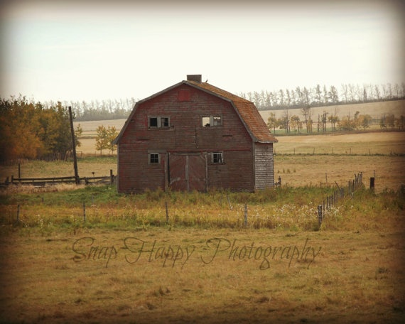 Little Red Barn  8x10 Photo  Autumn Colors  Red by Snaphappy72, $15.00