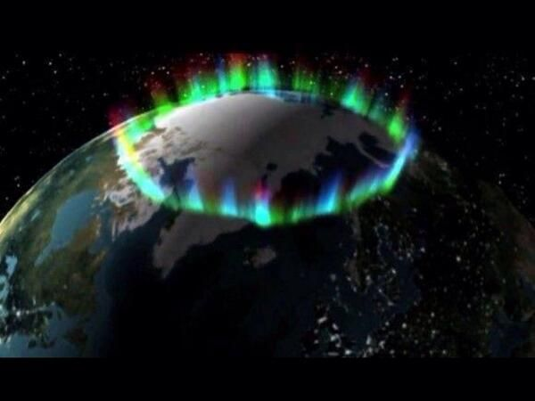 What the Northern Lights look like from space. Our earth wears a royal crown.