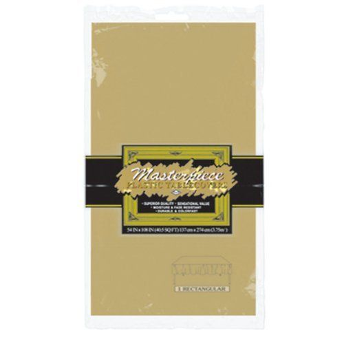 masterpiece plastic rectangular tablecover 120 pack by ddi masterpiece plastic rectangular
