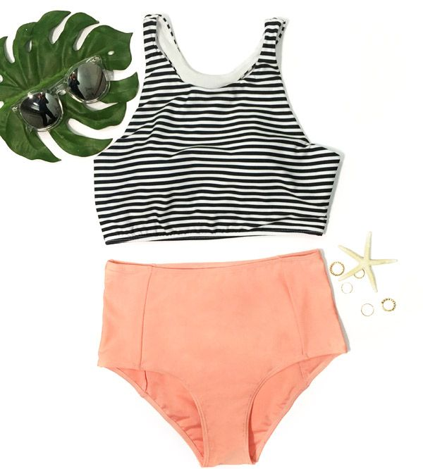 Time to get high & mighty. You derser it at $11.99! The bikini sets features striped tank top and high-waisted bottom. Give this summer the last hit! What are you waiting for? Check this at Cupshe.com