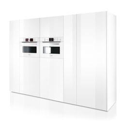 ... witte kastenwand. Foto: Bosch  Zwart-wit  Pinterest  Ovens and Met