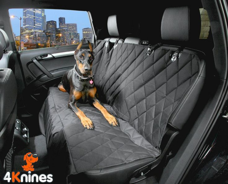 Dog Seat Cover Rear Bench Seat For Cars Trucks and SUVs (Regular Black)