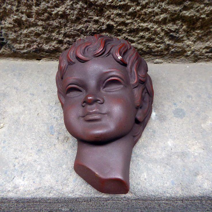 Mid Century West German Achatit wall art mask, 1950s  