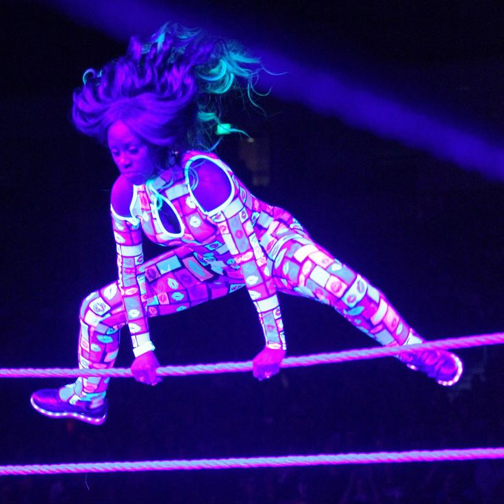 Naomi, a former dancer and one of the most athletic members of the women's division.