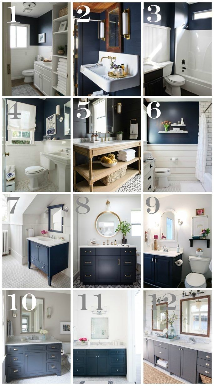 12 Unique Navy Blue And White Bathroom Ideas Ij11jke Blue Bathroom Decor Blue Bathroom Walls Navy Bathroom