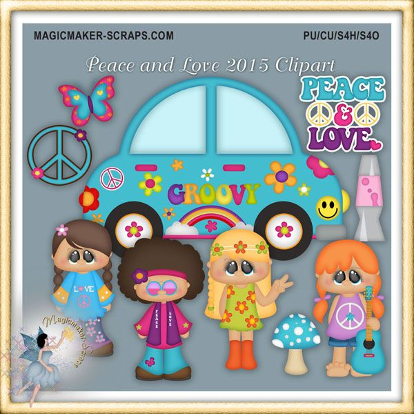 Peace and Love 2015 Clipart