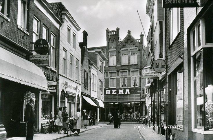 Lange Kerkstraat Goes (jaartal: 1950 tot 1960) - Foto's SERC