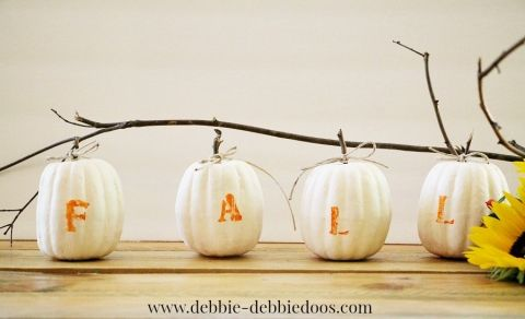 Dollar+tree+mini+pumpkin+makeover