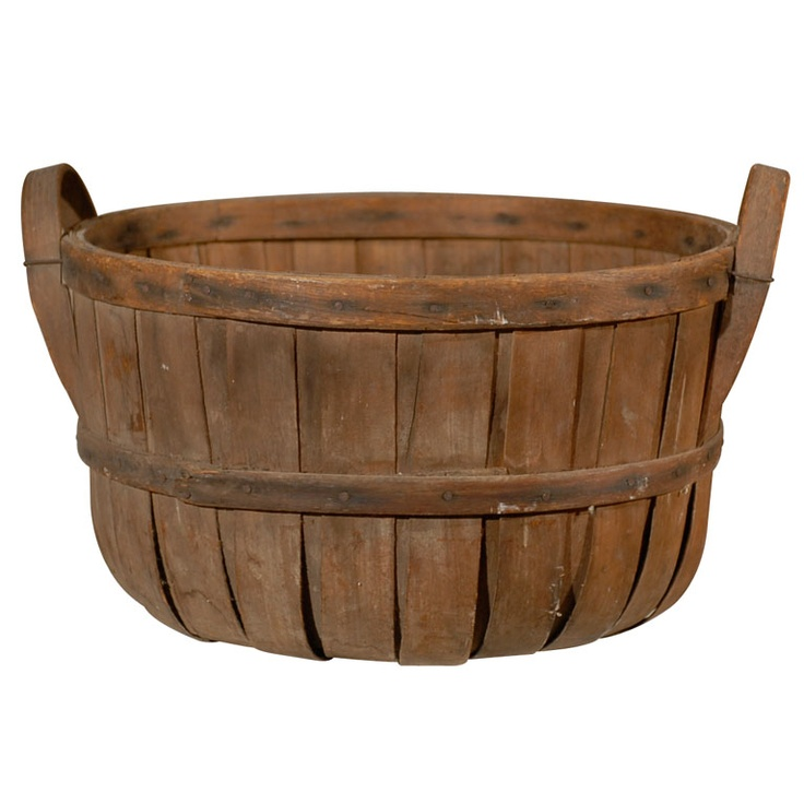 round wood slat basket