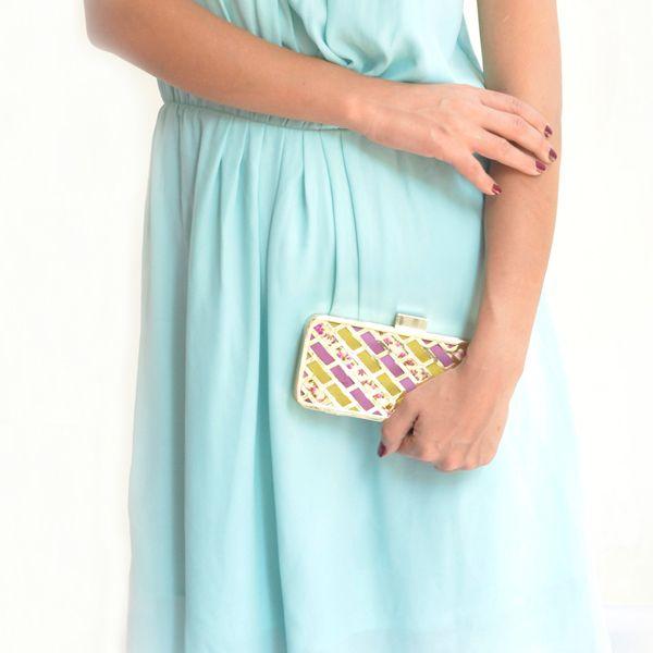 Sorbet clutch - #rachanareddy #bags #clutch #india #metal #handcrafted #metalclutch #fashion #elegant #nostalgic #summer #statementaccessory #ss14 #campaign #ecofashion #easybreezy #sorbet #flowers #fretwork  #sorbet #floral  Shop here: www.rachanareddy.com