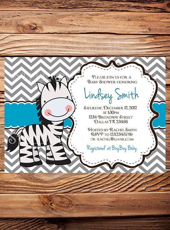 Zebra+Baby+shower+Invitation+Girl+Boy+Blue+by+StellarDesignsPro,+$21.00