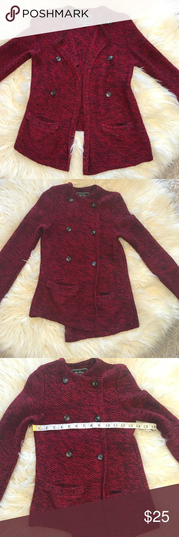 Lucky brand women's sweater blazer size xs Gently used sweater. No stains, no holes, minor peeling due to material. Style 7w51152. Sensor and extra buttons attached. This is NOT an outlet item. Stock#39 Lucky Brand Sweaters Cardigans