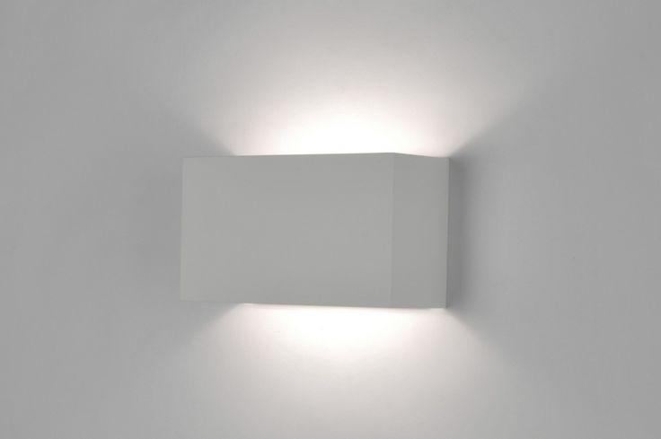 Wall lamp 71135: modern, designer, white, matt