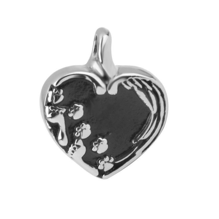 GIONO Pet Memorial Urn Necklace Cat Dog Paw Print Heart Cremation Jewelry Animal Ashes Keepsake Pendant -- Continue to the product at the image link.