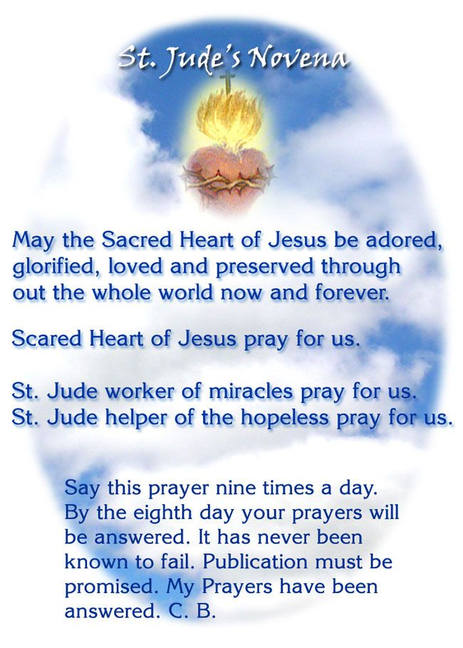 Image detail for -St. Jude's Novena ~ This prayer printed on mugs!
