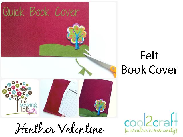 Handmade Felt Book Cover : Best images about felt book covers on pinterest