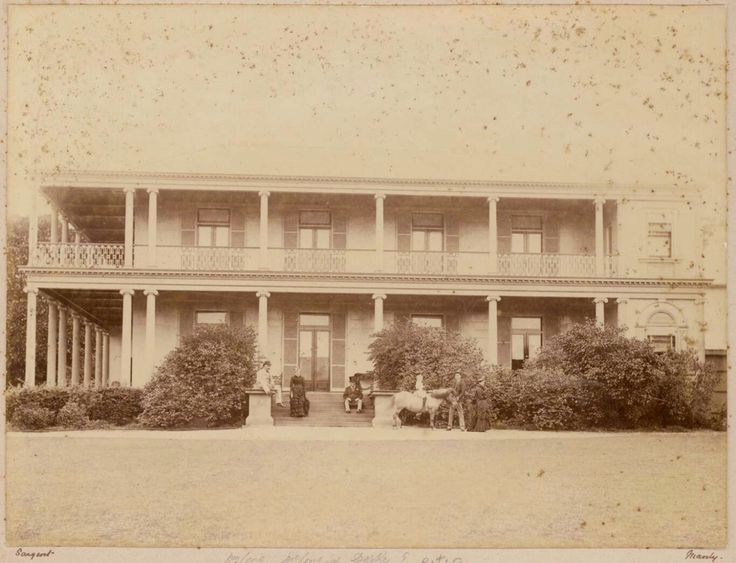 Tusculum at 3 Manning St,Potts Point in the eastern suburbs of Sydney in the 1870s.