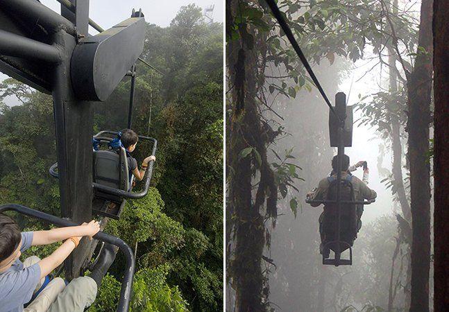 Já imaginou pedalar nas alturas? Na cidade de Quito, no Equador, isso pode virar realidade. No meio da protegida floresta tropical de 3.212 hectares, a Reserva de Biodiversidade Mashpi, a Sky Bike fica suspensa a cerca de 60 metros do chão através de um cabo, fazendo com que turistas se divirtam atravessando a mata entre dois pontos. A atividade de lazer fica dentro do Mashpi Lodge, um alojamento sustentável de luxo que está 900 metros acima do nível do mar, instalado entre cachoeiras…