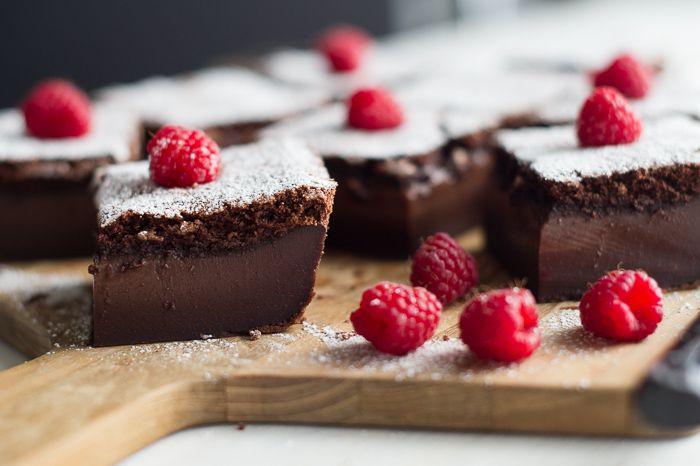 Magic Custard Chocolate Cake - Whilst baking this cake separates into cake and custard layers.