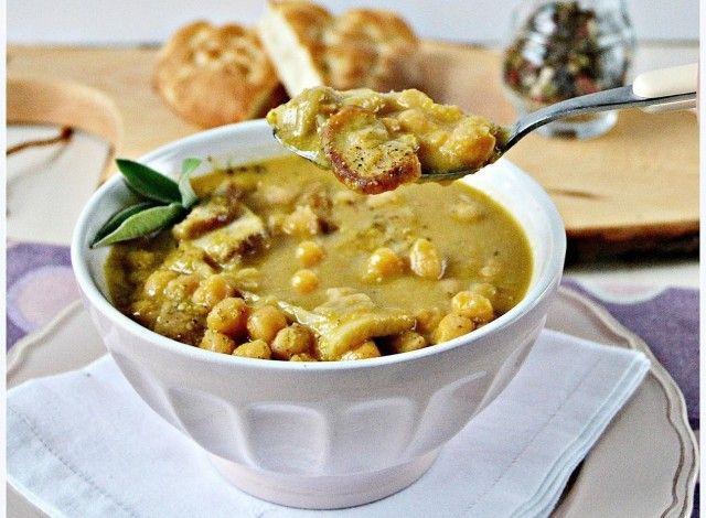 zuppa ceci & porcini