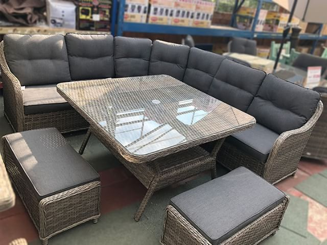 The Volos Corner Rattan Sofa Set Available For Immediate Home Delivery From Garden Centre Shopping Gardenfurnitu Rattan Sofa Outdoor Furniture Sets Sofa Set