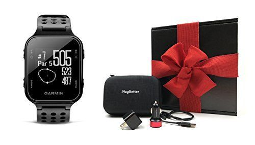 Garmin Approach S20 (Black) Gift Box Bundle | Includes Garmin Golf GPS Watch/Activity Tracker, PlayBetter USB Car & Wall Charging Adapters, Protective Hard Carrying Case   http://huntinggearsuperstore.com/product/garmin-approach-s20-black-gift-box-bundle-includes-garmin-golf-gps-watchactivity-tracker-playbetter-usb-car-wall-charging-adapters-protective-hard-carrying-case/