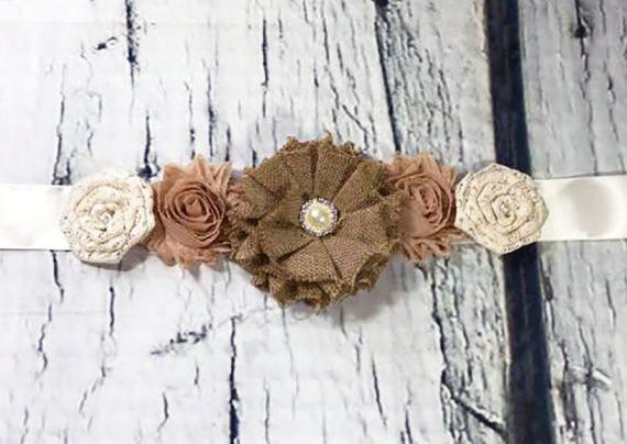 Marco rústico o arpillera flores marco / maternidad marco /