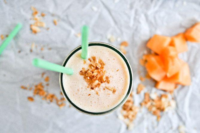 Healthy Cantaloupe Coconut Lassi #recipe