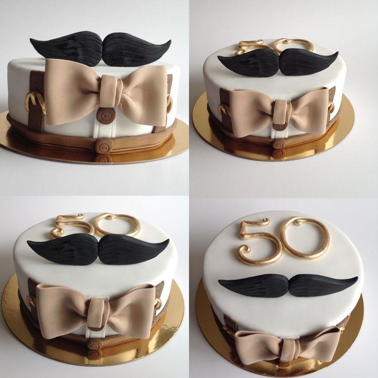 Torta cumpleaños bigote