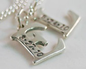 Love these: Initials Letters, Silver Initials, Mothers Bracelets, Sterling Silver, Necklaces Initials, Friendship Necklaces, Letters Necklaces, Gifts Idea, Mothers Necklaces