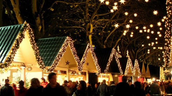 The Cologne Christmas Market showcases 160 wooden stalls.