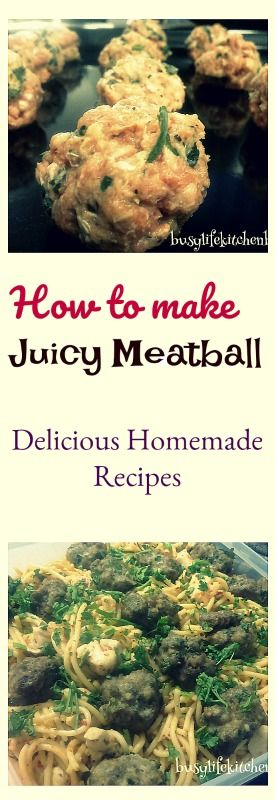 Learn how to cook simple meatball recipe