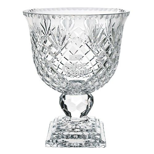 "Oxford Paneled Ped Bowl 12"""" Glass Trophy"