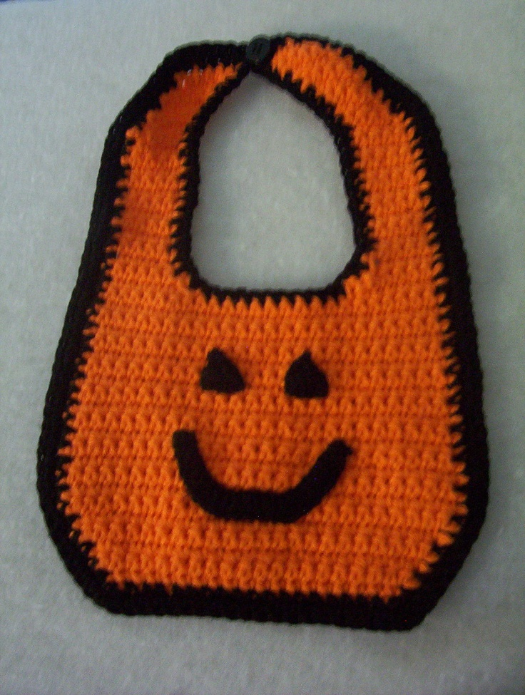 Halloween Crochet Baby Bib. $8.99, via Etsy.