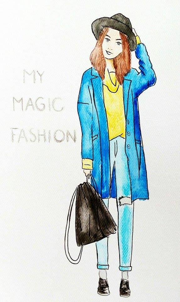 Smiley Daniela from mymagic-fashion.blogspot.cz #bloggerdrawing
