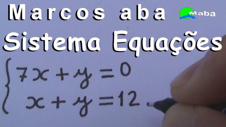 SISTEMA DE EQUAÇÕES  DO PRIMEIRO GRAU ( sistemas Lineares ) - Método da ...