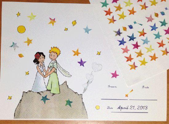 結婚式演出のウェルカムツリー用星のシール販売