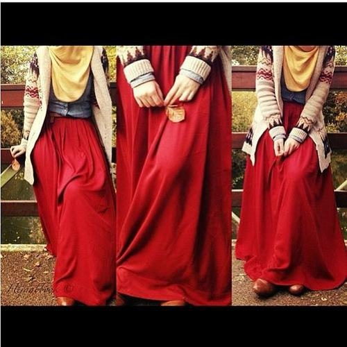 Islamic Fashion, nice for during the autumn season.