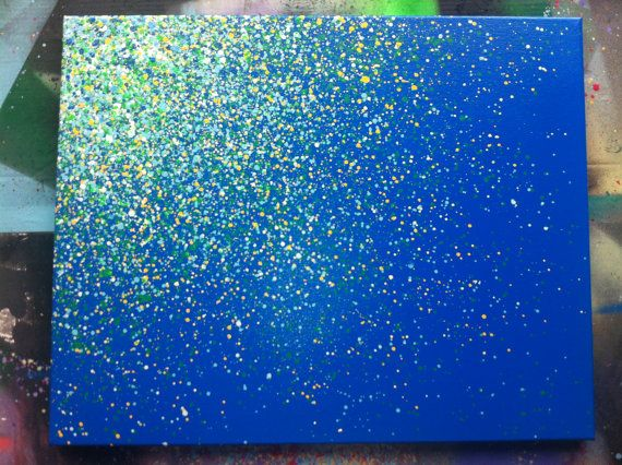 16x20 Paint Splatter Canvas By Easerr On Etsy 50 00