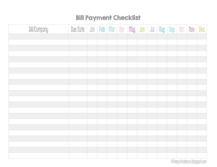Best 25+ Bill payment organization ideas on Pinterest Bill pay - bills to pay template