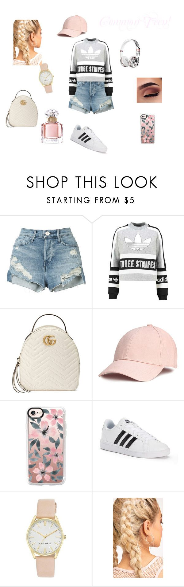 """Common Teen"" by janellwood on Polyvore featuring 3x1, adidas Originals, Gucci, Casetify, Beats by Dr. Dre, adidas, Nine West and Guerlain"