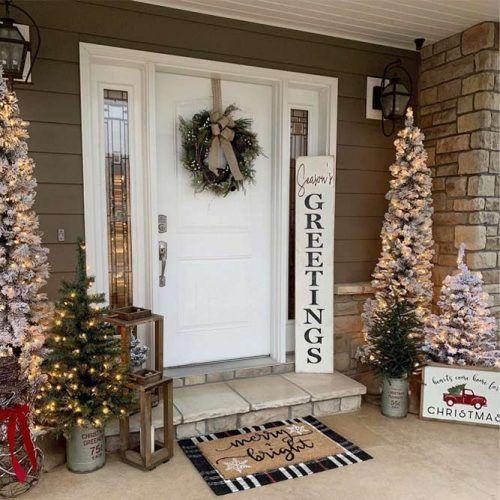 unglaublich  18 schöne und festliche Weihnachtsdekorationen im Freien