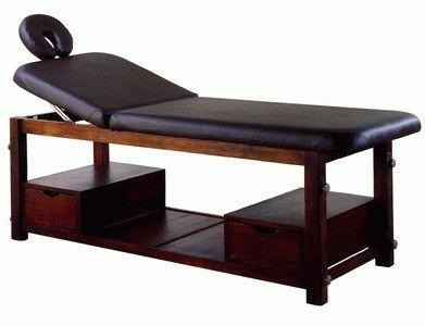 Стационарный деревянный массажный стол для СПА процедур   МД - 3331 - размеры…