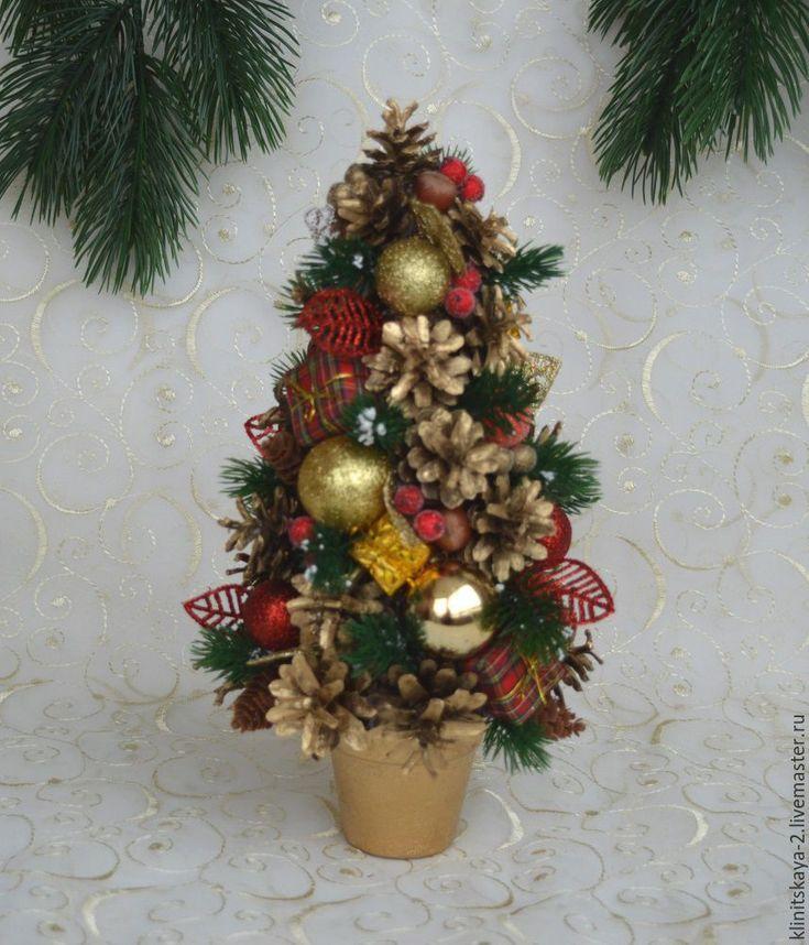 Купить Интерьерная новогодняя ёлочка, новогодняя ёлка из шишек. - елочка, новогодняя елочка, елочка новогодняя