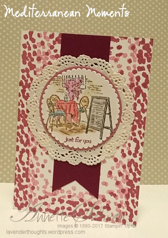 Mediterranean Moments Table Sugarplum by fauxme - Cards and Paper Crafts at Splitcoaststampers