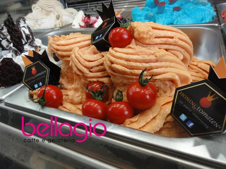 Honing Tomaten IJS, alleen verkrijgbaar bij IJssalon Bellagio, HvH