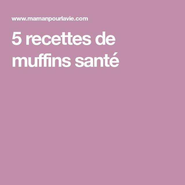 5 recettes de muffins santé
