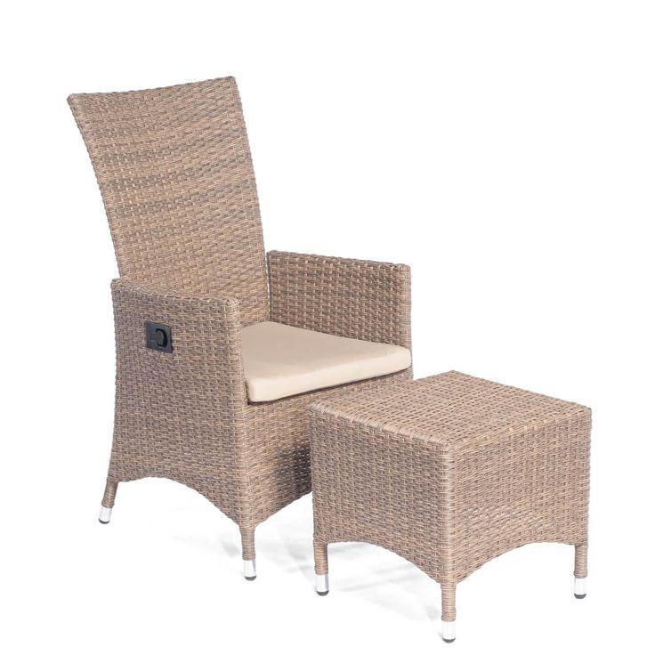 Awesome Garten Sessel Set mit Hocker Pierre Geflecht Old Finish Jetzt bestellen unter https